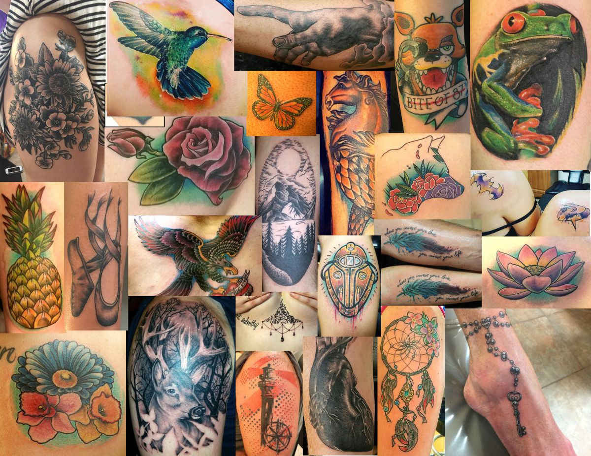 Rose's Tattoo Collage